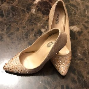 Sparkly Gold Heels Size 7
